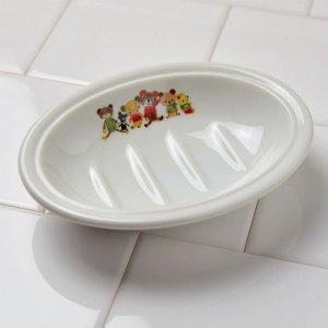 Shinzikatoh シンジカトウ くまのイラストが可愛い石鹸置き OUソープディッシュ