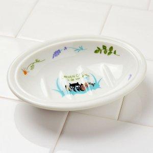 シンジカトウ 黒猫イラストが可愛い石鹸置き UNソープディッシュFLOWER
