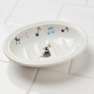 シンジカトウ 音楽好きな猫たちのイラストが可愛い石鹸置き UNソープディッシュMUSIC