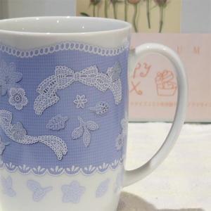 レース柄 プレフェーレ マグカップ  (Lace motif design Prefere Mug)