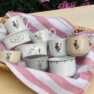 おまかせ 可愛い陶器のカップ 森のケーキ屋さん 6個セット