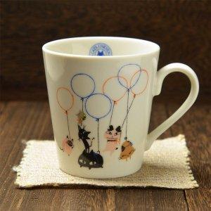 シンジカトウ 猫のデザイン 可愛いマグカップ アニーブンキャッツD