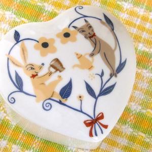 トランキールチャット 陶器製 ハートBOX