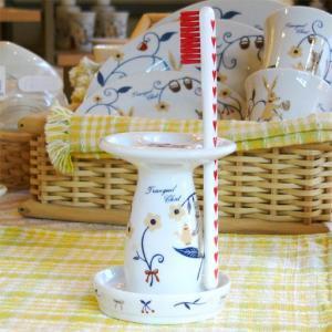 トランキールチャット 陶器製 ハブラシスタンドTranquil Chat Ceramic Toothbrush stand