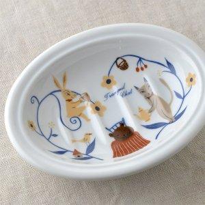 Shinzikatoh シンジカトウ デザイン トランキールチャット  ソープデッュ 陶器の石鹸置き(Tranquil Chat Ceramic Soap dish)
