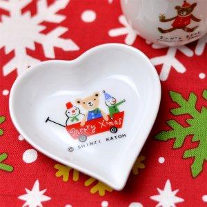 クリスマス ハートトレー