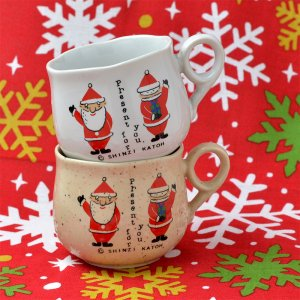 ShinziKatoh クリスマスデミタスカップ2個セット-サンタメール38