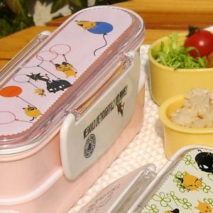 スリムランチボックス Dピンク 2段 お弁当箱  (Slim Double Decker Bento box Lunch box D)