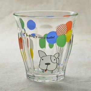 Shinzikatoh シンジカトウ デザイン Caramel Animalsシリーズ ガラスのコップ ビガーグラス Dog's Tails