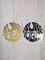 SURFYOGIS カッティングステッカー/ゴールド・ブラウン/小(8cm)