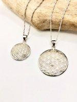 【ARDANI energy jewelry】FLOWER OF LIFEフラワーオブライフシルバーペンダントトップ(小)