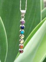 【ARDANI energy jewelry】チャクラ7色シルバーペンダントトップ(チェーン付き)