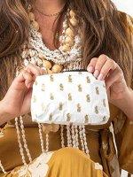 防水トラベルバッグAloha Collection/Pineapple Royale/ポーチミニ/ゴールドホワイト