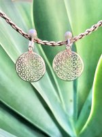 【ARDANI energy jewelry】FLOWER OF LIFEフラワーオブライフシルバーイヤリング