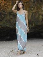 【Indigo Sea 2021】オーガニックコットンイージーゴーイング ドレス/グリーングレー/F