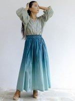 【Indigo Sea 2021】オーロラマキシスカート/ブルーグリーン/F