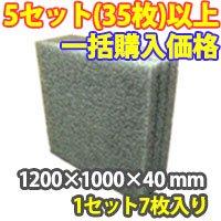 トラック用発泡ボード(グレー) 1200×1000×40 mm 【一括購入価格】