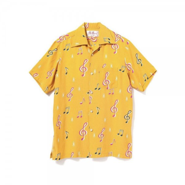 <br>Aloha Blossom<br>【アロハブロッサム】<br>SOUNDS GOOD<br>SHIRTS S/S MUSTERD<br>