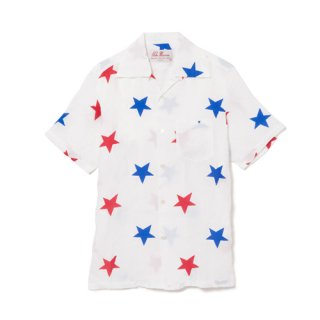 <br>Aloha Blossom<br>【アロハブロッサム】<br>STAR<br>S/S SHIRT WHT<br>