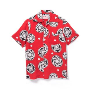 <br>Aloha Blossom【アロハブロッサム】<br>TYPHOON<br>SHIRTS S/S RED<br>sold!!!