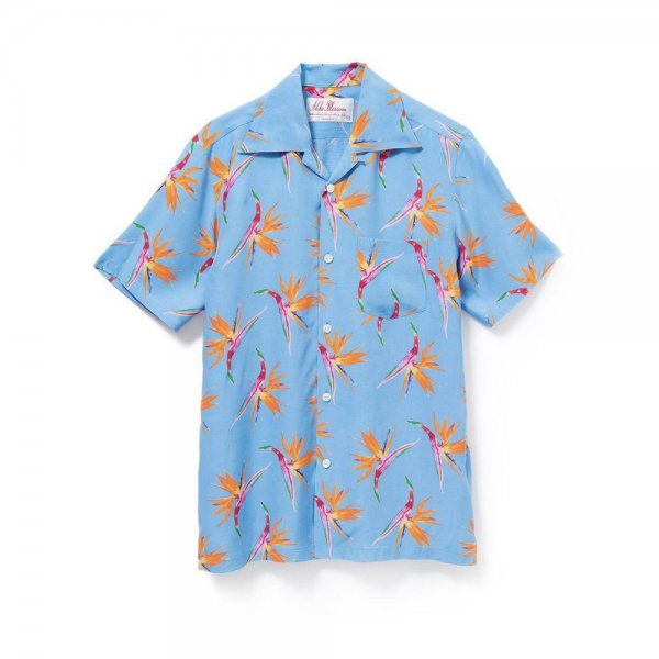 <br>Aloha Blossom<br>【アロハブロッサム】<br>BIRDS OF PARADICE<br>SHIRTS S/S SAX<br>