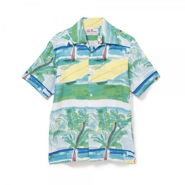 <br>Aloha Blossom<br>【アロハブロッサム】<br>SUMMER TIME<br>SHIRTS S/S GREEN<br>