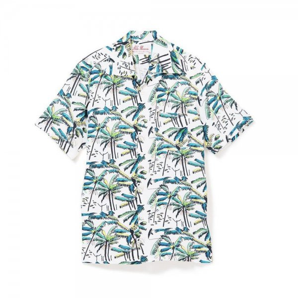 <br>Aloha Blossom<br>【アロハブロッサム】<br>PALM TREE<br>SHIRTS S/S WHT<br>
