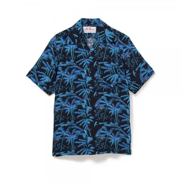 <br>Aloha Blossom<br>【アロハブロッサム】<br>PALM TREE<br>SHIRTS S/S BLK<br>