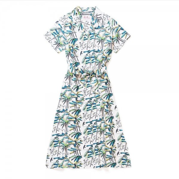 <br>Aloha Blossom<br>【アロハブロッサム】<br>PALM TREE<br>ONEPIECE WHT<br>