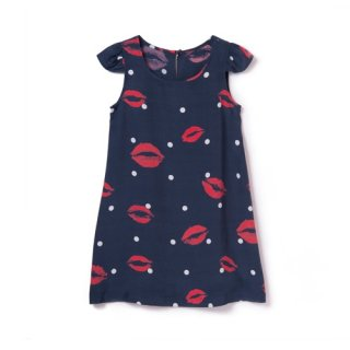 <br>Aloha Blossom【アロハブロッサム】<br>KISS<br>KIDS ONE PIECES NVY<br>sold!!!