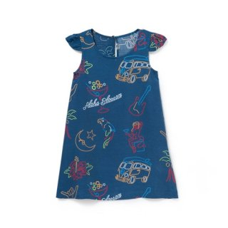 <br>Aloha Blossom【アロハブロッサム】<br>NEON<br>KIDS ONE PIECES NVY<br>sold!!!
