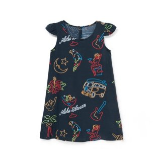 <br>Aloha Blossom<br>【アロハブロッサム】<br>NEON<br>KIDS ONE PIECES BLK<br>