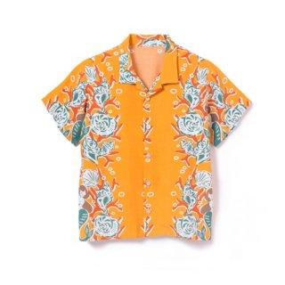 "<br>Aloha Blossom<br>【アロハブロッサム】<br> ""MERMAID""<br>KIDS<br >SHIRTS YELLOW<br>"