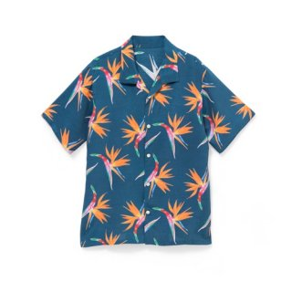 "<br>Aloha Blossom<br>【アロハブロッサム】<br>""BIRDS OF PARADICE""<br>KIDS<br >SHIRTS NAVY<br>"