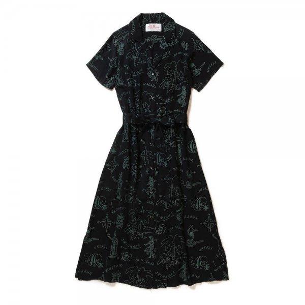<br>Aloha Blossom【アロハブロッサム】<br>YU NAGABA<br>DRESS Black×Green<br>sold!!!