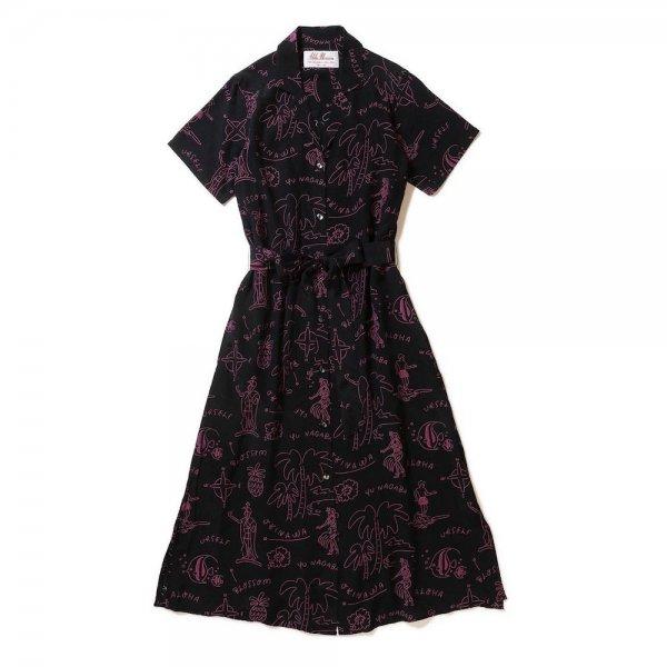<br>Aloha Blossom【アロハブロッサム】<br>HAWAIIAN<br>DRESS Black×Pink<br>sold!!!