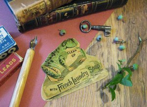Antique Advertising Card Frog