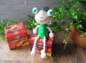 Frog Wood Doll from Czsch
