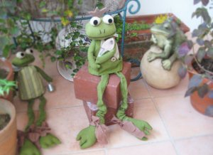 Gardening Frog Stuffed Dall from hungary