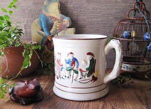 Antique Victorian Large Frog Mug