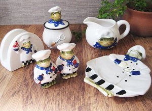 Frog shef Kitche Set Peace of 6