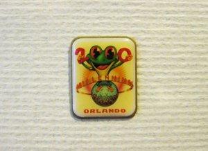 Millennium Frog Pin Brooch