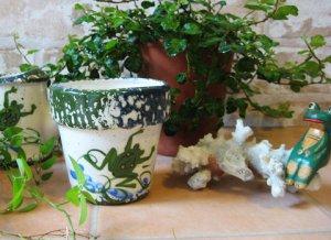 Frog Flower Pot