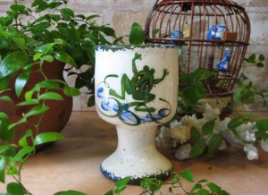 Frog Flower Pot Goblet Shape