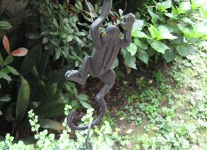 Cast Metal Planter Hanger Frog