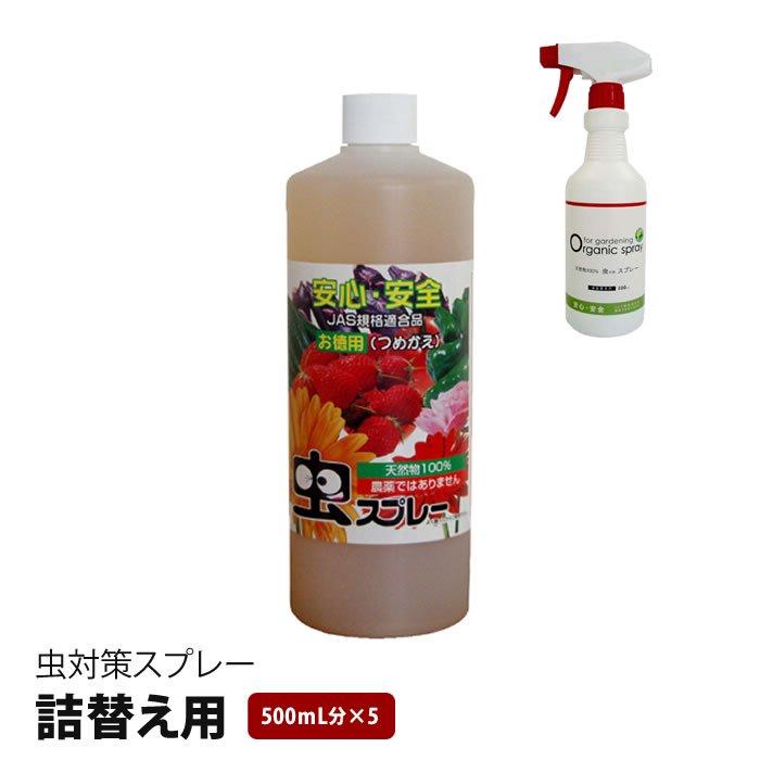 【在庫切れ中:7月下旬頃入荷発送予定】詰替え用・天然物100%の無農薬 虫対策スプレー