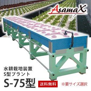 水耕栽培装置Asamax・S型プラントS-75型
