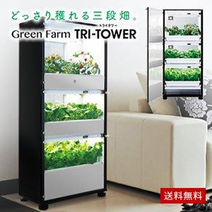 【販売終了】水耕栽培器 Green Farm TRI-TOWER(グリーンファームトライタワー)■直送■