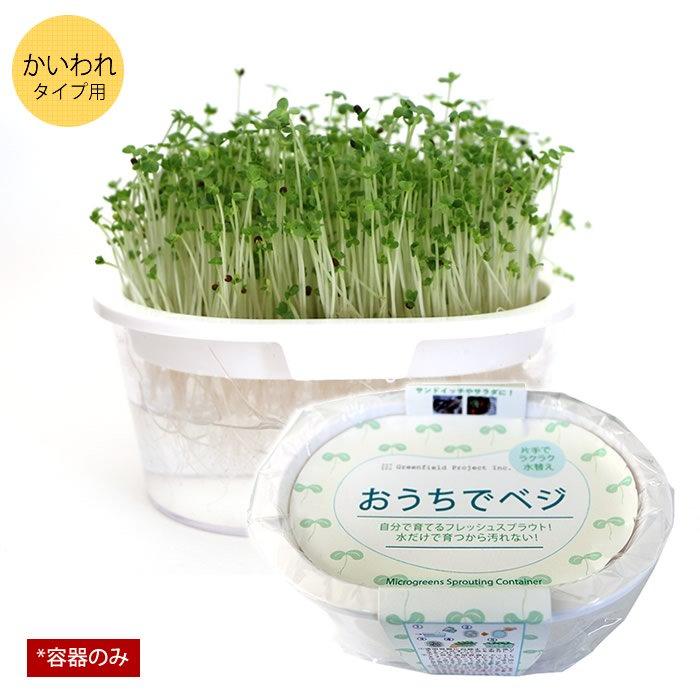スプラウト栽培専用容器キッチンファーム(かいわれタイプ)