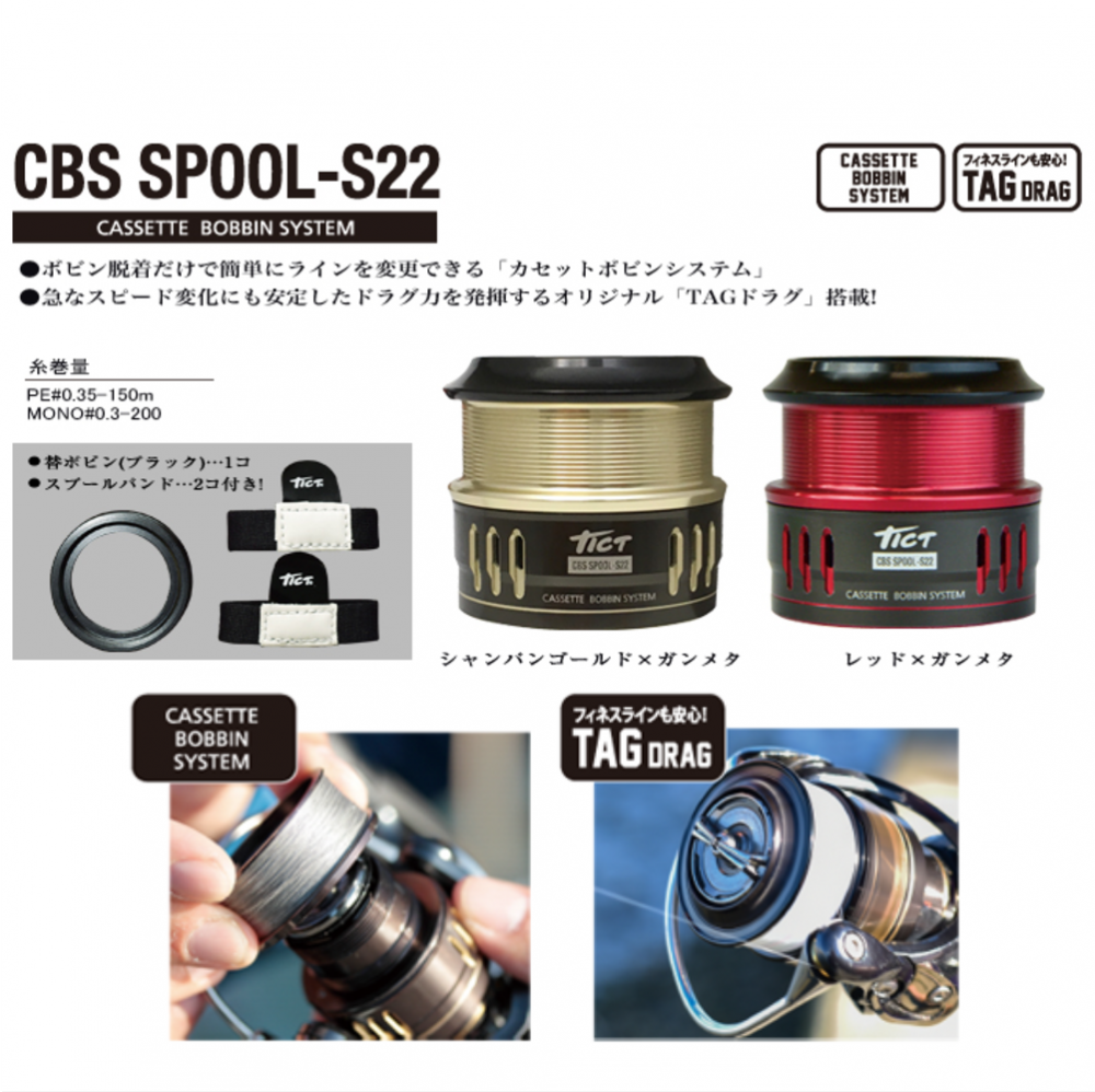 <リールパーツ> ティクト CBS SPOOL-S22